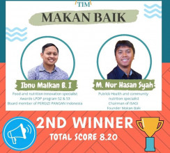 Nutrition Study Program of UPNVJ Wins 2nd Place in Prestigious Event of Social Model Entrepreneur Innovathon II 2020