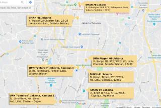 "7 Lokasi Ujian UTBK Pusat UPN ""Veteran"" Jakarta"