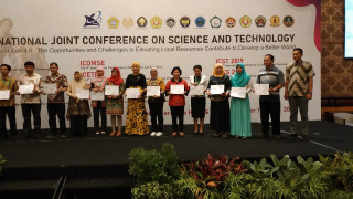 UPNVJ Meraih Best Paper Award dalam ajang International Joint Conference on Science and Technology