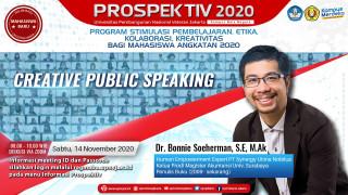 Bersama Dr. Bonnie Soeheman, Mahasiswa UPNVJ Bahas Creative Public Speaking