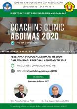 Webinar Coaching Clinic: Persiapan Proposal Pengabdian Kepada Masyarakat 2021 dan Evalusi Proposal Pengabdian Masyarakat Simlitabmas 2019