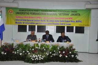 """PENANDATANGANAN MoU & KULIAH UMUM INTERNASIONAL UPN """"VETERAN"""" JAKARTA"""