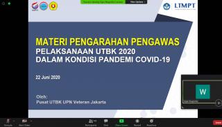 UPNVJ Gelar Pengarahan Pelaksanaan UTBK 2020 Secara Virtual