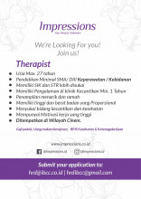 Impressions Beauty Clinic Urgently Need Doctor and Therapist