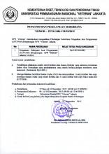Lelang Sederhana Pengadaan Jasa Pengamanan (SATPAM) di lingkungan UPN