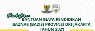 BAZNAZ Buka Bantuan Biaya Pendidikan (BAZIS) Provinsi DKI Jakarta Tahun 2021
